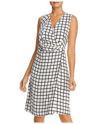 Kenneth Cole Printed Faux Wrap Dress - Multicolour
