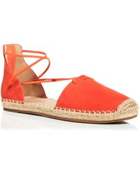 Eileen Fisher Women's Lace Strappy Espadrille Flats - Red