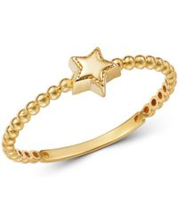 Moon & Meadow - 14k Yellow Gold Star Ring - Lyst