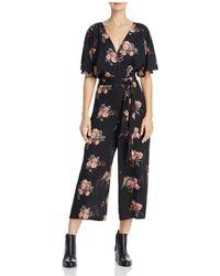 June & Hudson - Floral Faux Wrap Jumpsuit - Lyst