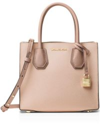 MICHAEL Michael Kors - Studio Mercer Color Block Medium Pebbled Leather Messenger - Lyst