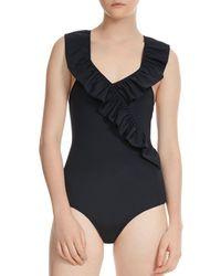 Maje Twiggy One Piece Swimsuit - Black