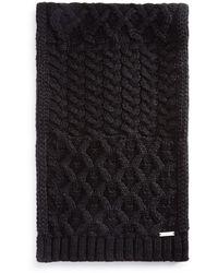 Michael Kors Cable - Knit Muffler - Black
