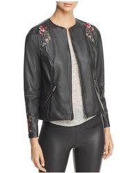Lyssé - Lysseé Embroidered Faux Leather Jacket - Lyst