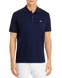 Lacoste Pima Cotton Regular Fit Polo Shirt - Blue