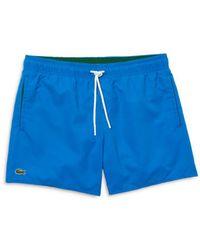 Lacoste Regular Fit Swim Trunks - Blue