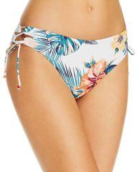 Roxy Beach Classics Lace - Up Bikini Bottom - Blue