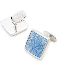 David Donahue - Sterling Silver Paisley Cufflinks - Lyst