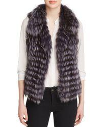 Maximilian Thin Collar Fox Vest - Multicolor
