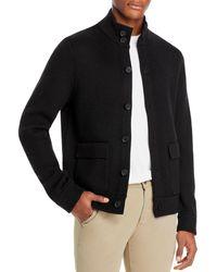 Vince Slim Fit Merino Sweater Jacket - Black