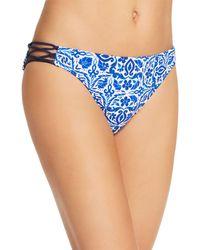 Nanette Lepore Talavera Vamp Bikini Bottom - Blue