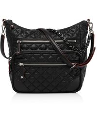 MZ Wallace Quilted Black Crosby Hobo