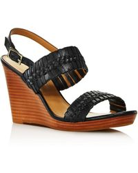 Jack Rogers Jack Rodgers Women's Tinsley Woven Leather Wedge Sandals - Black
