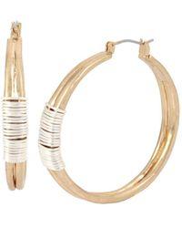 Robert Lee Morris Two-tone Wire Wrap Hoop Earrings - Metallic