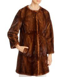 Maximilian Mink Fur Coat - Brown
