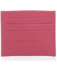 Longchamp Le Foulonne Card Case - Pink