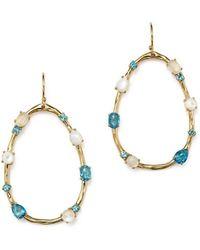 Ippolita - 18k Yellow Gold Rock Candy® Mixed Doublet Open Drop Earrings In Raindrop - Lyst
