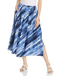 uk availability 307b4 5a11f New York Printed Pleated Midi Skirt - Blue