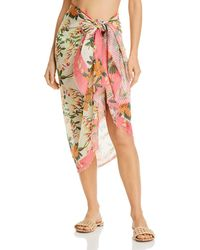 Echo Bluebell Vines Wrap Pareo Swim Cover - Up - Multicolour