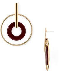 Aqua - Double Loop Drop Earrings - Lyst