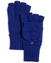 C By Bloomingdale's Aqua Pop - Top Gloves - Blue