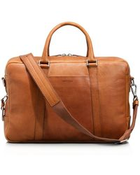 Shinola - Slim Leather Briefcase - Lyst
