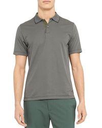 Theory Regular Fit Polo Shirt - Grey