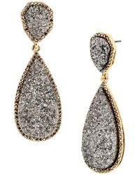 BaubleBar - Moonlight Druzy Earrings - Lyst