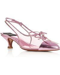 Marc Jacobs Women's Slingback Kitten - Heel Pumps - Pink