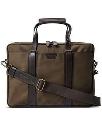 Shinola Brakeman Canvas Briefcase - Brown
