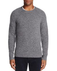 Bloomingdale's Crewneck Donegal Cashmere Sweater - Gray