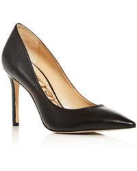 Sam Edelman Hazel Pointed Toe High - Heel Court Shoes - Black