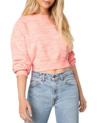Cupcakes And Cashmere Billie Cropped Pullover Sweater - Pink