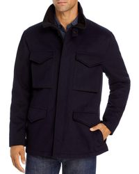 Vince Slim Fit Field Jacket - Blue