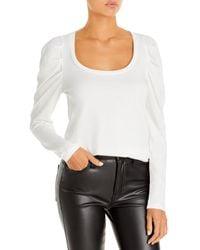 Pam & Gela Puff Sleeve Top - White
