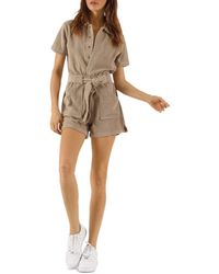 Pam & Gela - Terry Belted Romper - Lyst