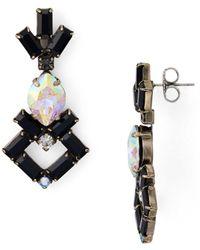 Sorrelli Artisanal Drop Earrings - Black