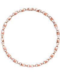 Michael Kors Precious Metal-plated Sterling Silver Mercer Link Necklace - Metallic