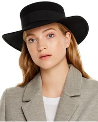 Aqua Wool Fedora - Black