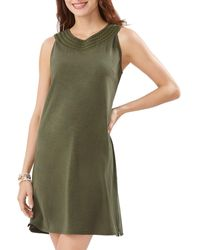 Tommy Bahama Pearl Embroidered Shift Dress - Green