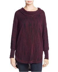 NIC+ZOE - Nic+zoe Cowl Neck Knit Top - Lyst