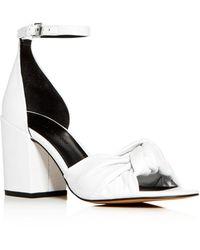 Rebecca Minkoff Women's Capriana Block - Heel Sandals - White