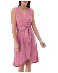 B Collection By Bobeau Rowan Faux - Wrap Dress - Pink