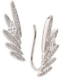 Nadri Leah Pave Wing Ear Climbers - Metallic