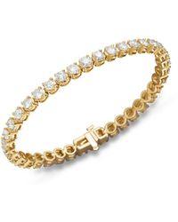 Bloomingdale's Certified Diamond Tennis Bracelet In 14k Yellow Gold - Metallic
