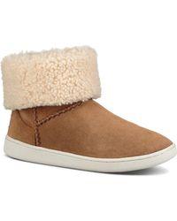 c7747685062 UGG Montrose Short Zip Wedge Boot Sneakers in Black - Lyst