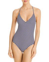 Splendid Never Enough Striped One - Piece Swimsuit - Blue