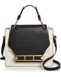 Zac Zac Posen Katie Color - Block Satchel - Black