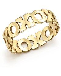 Zoe Chicco - 14k Yellow Gold Xo Eternity Ring - Lyst