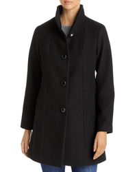 Kate Spade Stand Collar Coat - Black